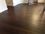 Wire brushed, engineered White Oak wood flooring installed
