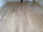 Wire brushed, engineered White Oak Flooring with white stain