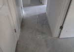 Hallway sub-floor prepped for wood look tile installation