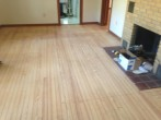 Old solid Heart Pine wood floor after refinishing