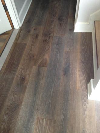 new european white oak wood flooring installed in hallway