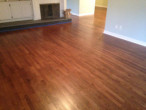 Old solid Red Oak wood flooring after refinishing