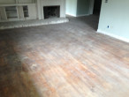 Solid Red Oak Flooring before refinishing