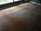 Old solid Red Oak wood flooring before refinishing