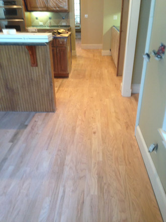 unfinished new solid red oak plank flooring