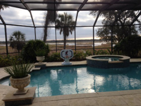 View of the Guana Reserve from the client's Ponte Vedra Beach home.