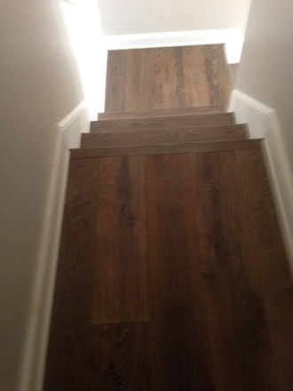 New European White Oak Wood Floors And Stair Tread Refinishing