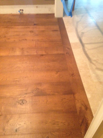 Replacing Travertine With European White Oak Flooring