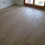 "5"" wide solid White Oak floor planks installed"