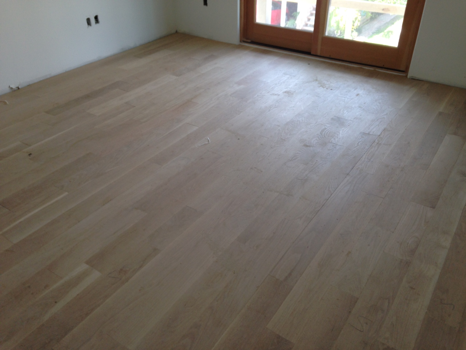 New Solid White Oak Flooring In Atlantic Beach Florida. In Law Suite. Dark Brown Cabinets. Rectangular Coffee Table. Mascarello Granite. Rustic Table Clock. Chinese Kitchen Cabinets. Double Fireplace. Scrapbook Rooms