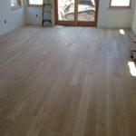 "5"" wide solid White Oak floor planks installed"