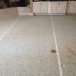old carpeting to be replaced by engineered walnut flooring