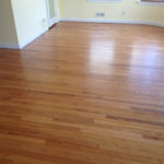 Old solid Red Oak wood floors after refinishing