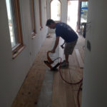 Solid White Oak flooring going in over adhesive over plywood subfloor