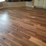 Wide engineered, weathered Walnut flooring