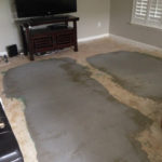 Leveling the concrete subfloor