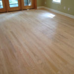 Sanded Red Oak wood floors