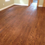 Red Oak wood flooring - sanded, stained and refinished