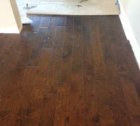 After 10 board weave-in - engineered hand scraped birch wood flooring