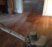 Buffer used before coating and in between coats to abrade floor for proper bonding