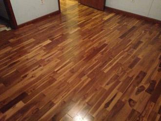 Costa Rican Teak Wood Flooring   Installed