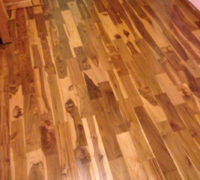 Close-up of Costa Rican Teak wood flooring