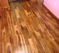 Costa Rican Teak wood flooring - installed