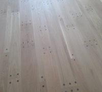 Existing pegged look white oak flooring