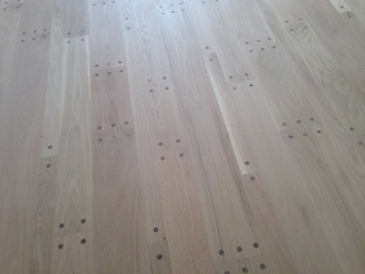 Pegged Look White Oak Floor Install And Weave In