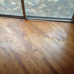 Finished wood floor repair