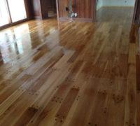 Finishing the new pegged look white oak wood flooring