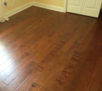 Hand scraped Birch wood flooring installed