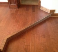 Engineered Maple wood flooring installed with aligned seams