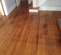 Old Quarter Sawn White Oak wood floor after refinishing