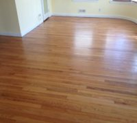Old solid Red Oak wood floors in a home in Neptune Beach