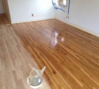Refinishing sanded wood floors