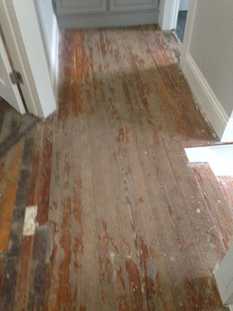 Refinishing Old Wood Floors And Stairs In Historic Springfield