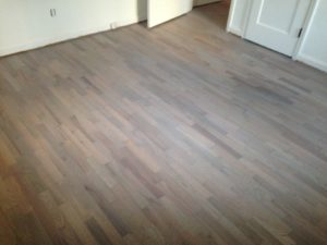 Stained and refinished Red Oak floor