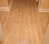 New wood-look floor tiles