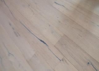 European White Oak wood flooring installed