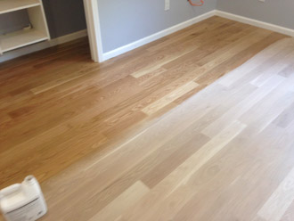 Install Sand And Finish White Oak Premium Grade Wood