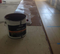 Installing Oak hardwood flooring with Bostik Vapor Lock adhesive