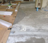 Installing White Oak wood flooring using flooring straps for wide planks