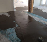 Leveling the subfloor