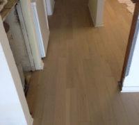 Oak hardwood flooring installed