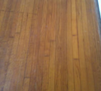 Old solid Red Oak wood flooring - to be refinished