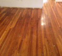 Old White Oak wood flooring prior to refinishing