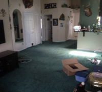 Old worn carpeting to be removed and replaced with wood flooring