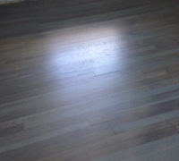 Refinished and custom stained White Oak wood flooring
