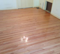 Refinished old clear grade solid Red Oak flooring